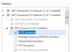 HTTP activation