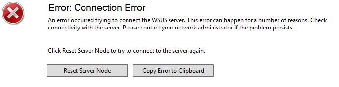 WSUS Issues – System IO IOException | Tech Blog