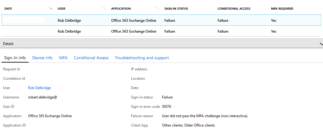 Office 365/Outlook 2016 with MFA and the dreaded Password prompt of