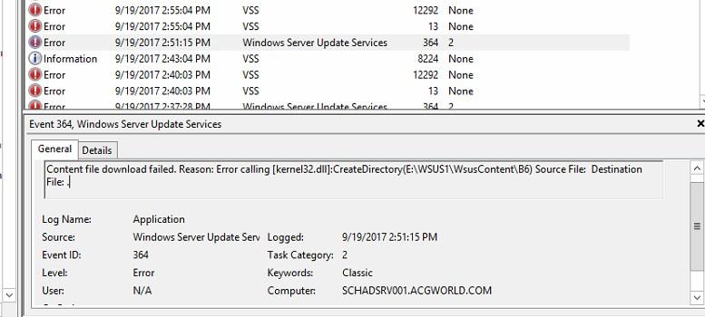 WSUS – Updates not downloading updates   Tech Blog